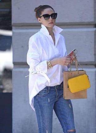 Белоснежная рубашка женская  100% хлопок s-xl