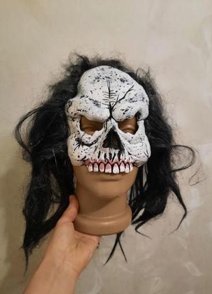 Карнавальная маска череп, хеллоуин, санта муэрта