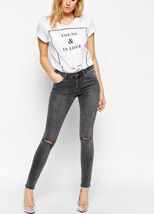 Рваные джинсы стрейчевые джинси батал