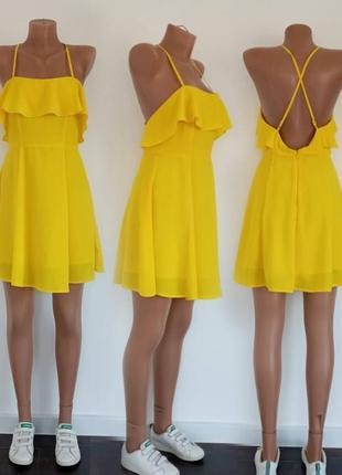 Лёгкое жёлтое летнее платьеце. forever 21. размер s.