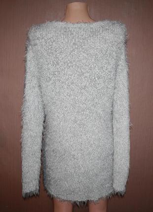 №122 стильный легкий и мягкий свитер травка с узором сердце  best connection4