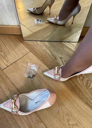 Летние светлые легкие туфли лодочки, casadei италия