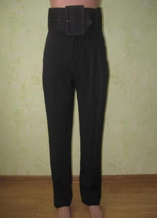Теплые брюки брендовые  зауженные высокая талия.