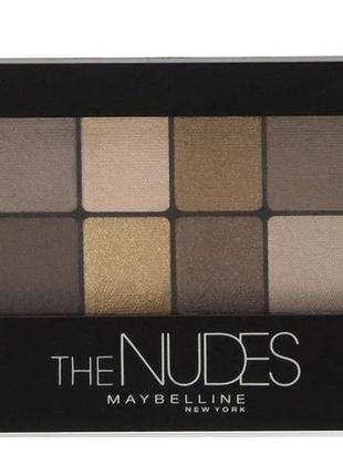 Maybelline new york the nudes palette тени палетка