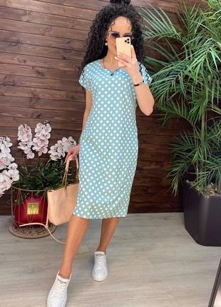 Платья - батал - 12 расцветок - стильное платье, платье миди, большие размеры (арт 134)
