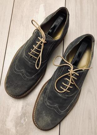 Мужские замшевые туфли steptronic(42р)