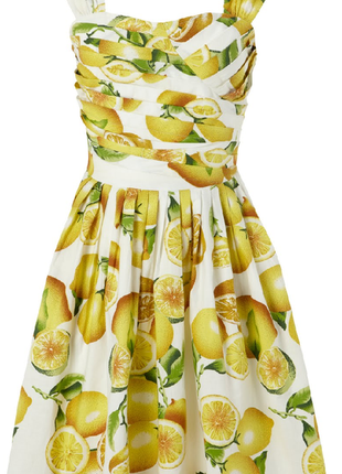 !!!распродажа!!!актуальное яркое платье мини лимонный принт №296max