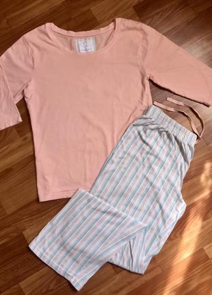 Хлопковая пижама/ домашний костюм реглан и штаны