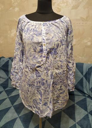 Блуза туника из тонкого хлопка