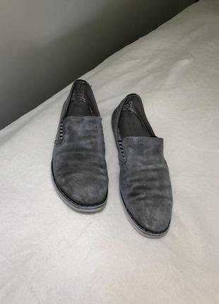 Замшевые туфли серые мужские туфлі мокасини 411 фото