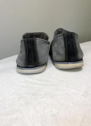 Замшевые туфли серые мужские туфлі мокасини 416 фото