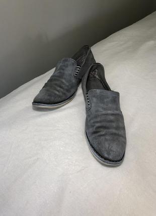 Замшевые туфли серые мужские туфлі мокасини 415 фото