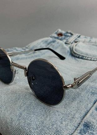 Круглые очки в серебристой оправе тишейды | круглі окуляри ретро тішейди