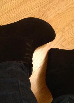 Осенние ботинки на высокой танкетке bodyflirt