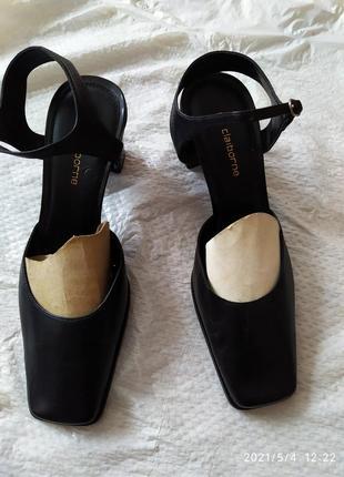 Liz claiborne босоножки, натуральная кожа, устойчивый каблук