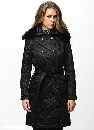 Стеганное пальто зима купить