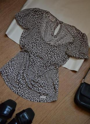 Blumarine леопардовая качественная футболка оригинал люкс мягенькая легкая