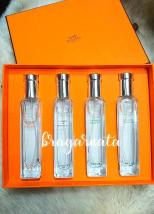 Подарочный набор ароматов унисекс, пробники духов 4 шт по 15 мл