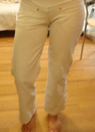 Легкие летние штаны для беременной размер xs