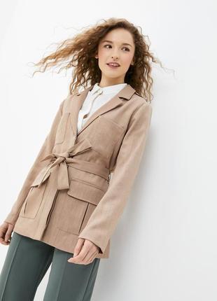 Бежевый, женский пиджак ichi