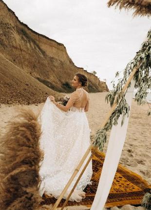 Пышное свадебное платье madeira c открытой спиной