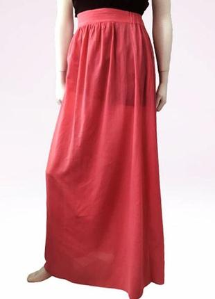 Длинная пляжная юбка французского бренда princesse tam.tam (длина 108 см)100% хлопок