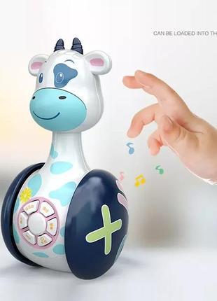 "Милая игрушка-неваляшка ""коровка"""