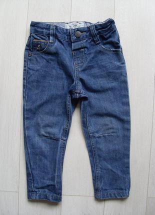 Синие джинсы ускачи рр.18-24 месяцев