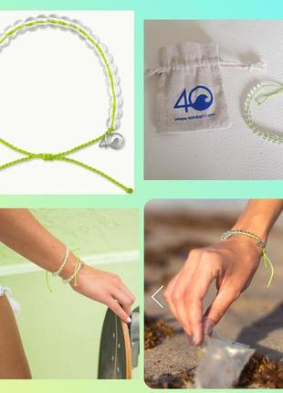 4ocean браслет из переработанного пластика тренд сша