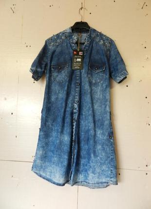 Джинсовое платье варёнка