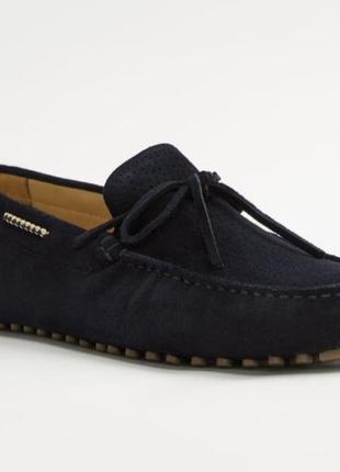 Новые замшевые  мужские  туфли zara размер 42