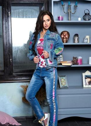 Крутой джинсовый комплект