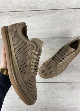 Кожаные мужские туфли спорт-комфорт model-sk1 (перфорация)