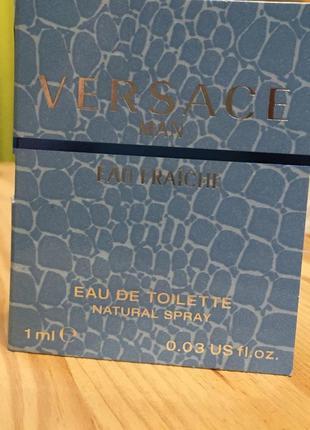 Пробник туалетной воды versace eau fraiche 1 мл