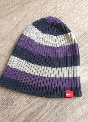 Полосатая шапка шапочка найк