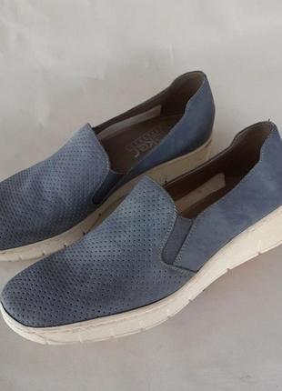 Фирменные мокасины туфли сеточка босоножки rieker antistress