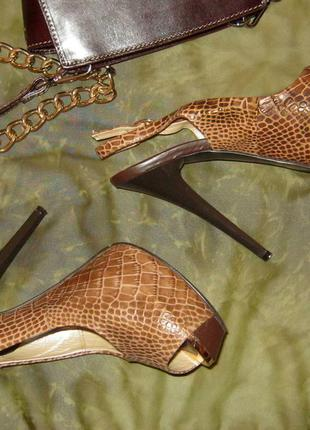 Босоножки туфли big rope натуральная кожа