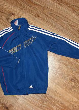 Спортивная куртка, олимпийка adidas, оригинал, на 7-8 лет, сделана в камбодже