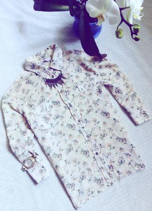 Стильная рубашка в цветочный принт