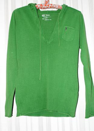 Зеленый джемпер с капюшоном gin tonic