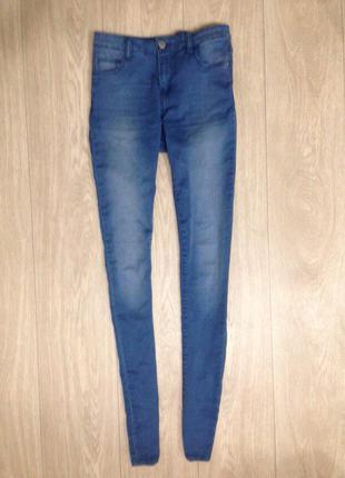 Скинни джинсы высокая посадка