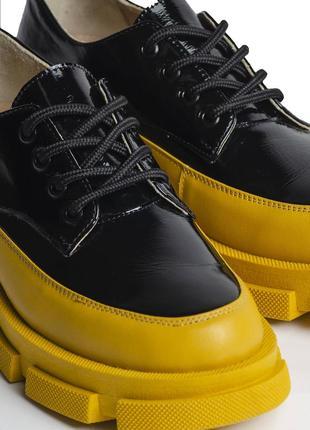 Чёрно-жёлтые туфли 36, 37, 38, 39, 40 размеров украинского бренда chili