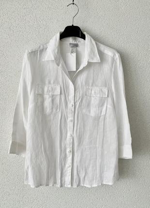 Женская льняная рубашка легкая летняя