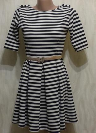 Элегантное платье в полоску new look, р.8