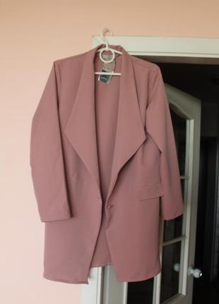 Пудровый пиджак, пиджачок, кардиган, піджак италия 46-48 р.