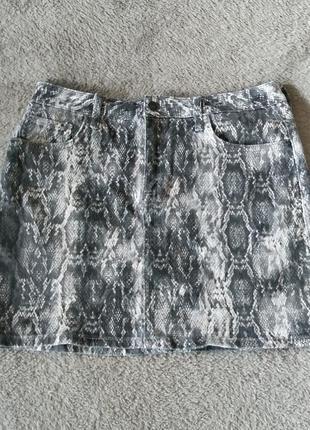Zara юбка рептилия