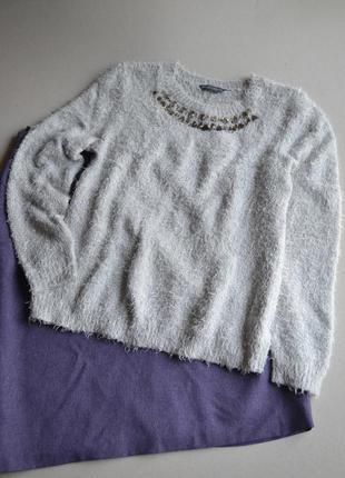 Пушистый свитер травка  р.xl-xxl   dorothy perkins