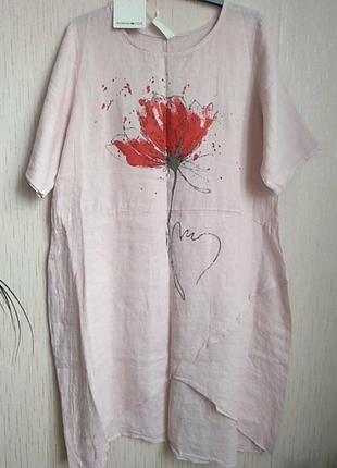 Woman in love платье лен оригинал