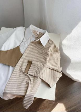 Бановняна блуза з топом на ланцюжку 💔