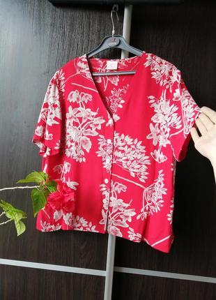 Шикарная блуза рубашка. цветы. 100%вискозы. country casuals